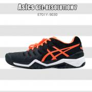 【断码清仓】Asics 亚瑟士 GEL-Resolution 7 网球鞋男款 黑橙色